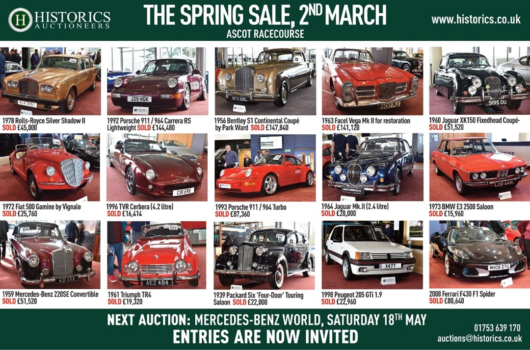 Historics at Ascot Racecourse 2nd March
