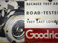 Navigate to Goodrich tyres enamel sign