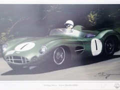 Navigate to A signed Stirling Moss print.