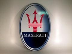 Navigate to Maserati wall plaque