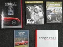 Navigate to Five Stirling Moss signed books,