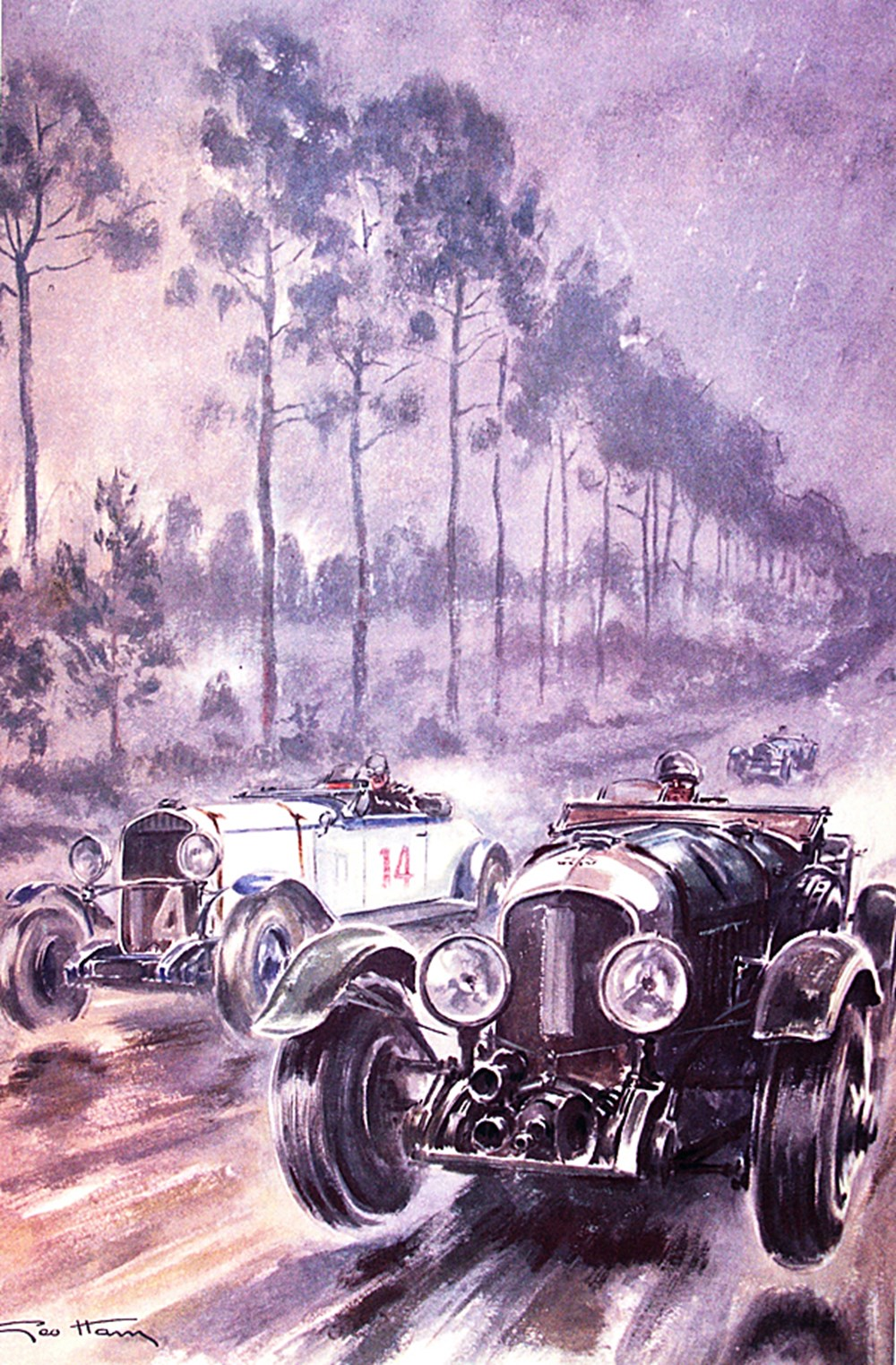 Lot 132 - Three Geo Ham motor sport related posters