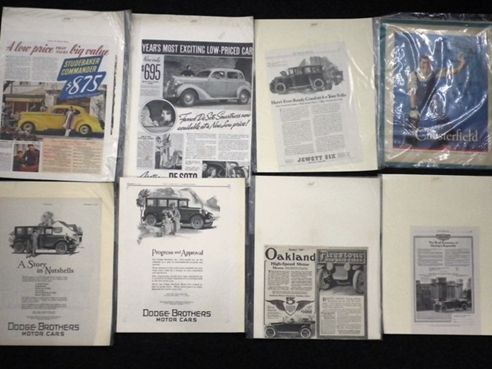 Lot 016 - American Vehicle Adverts