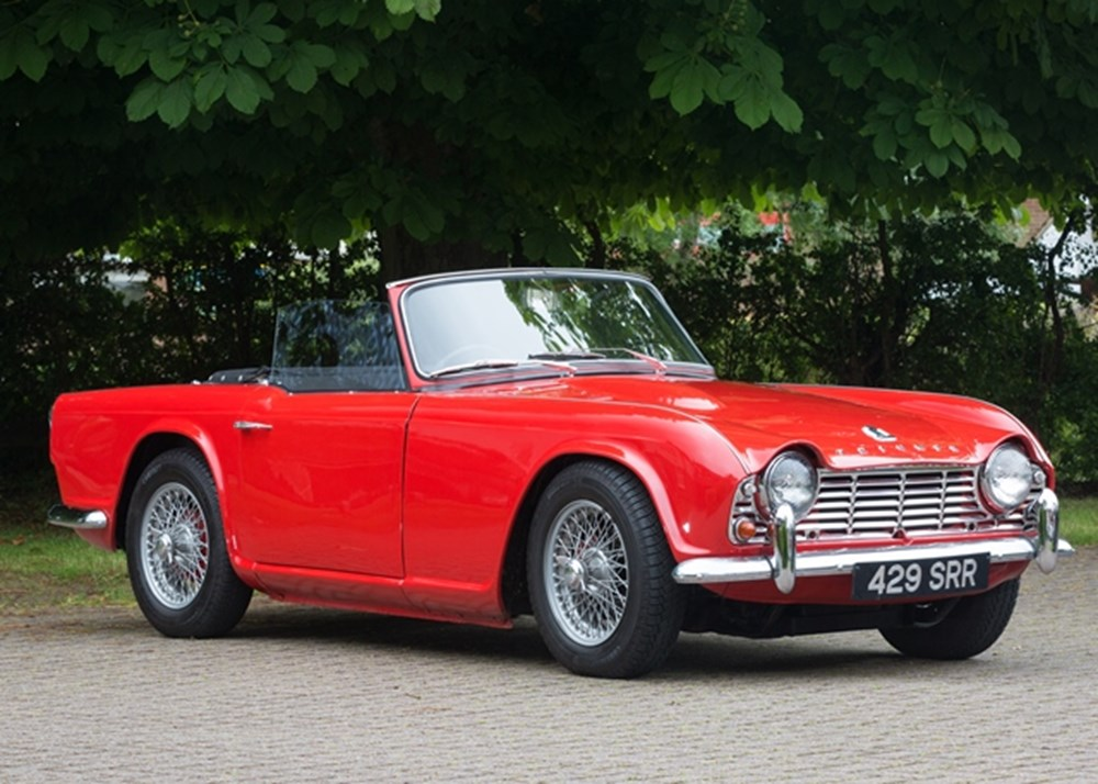 ref 49 1963 triumph tr4 classic sports car auctioneers. Black Bedroom Furniture Sets. Home Design Ideas