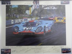 Navigate to A multi signed Porsche 917 print.