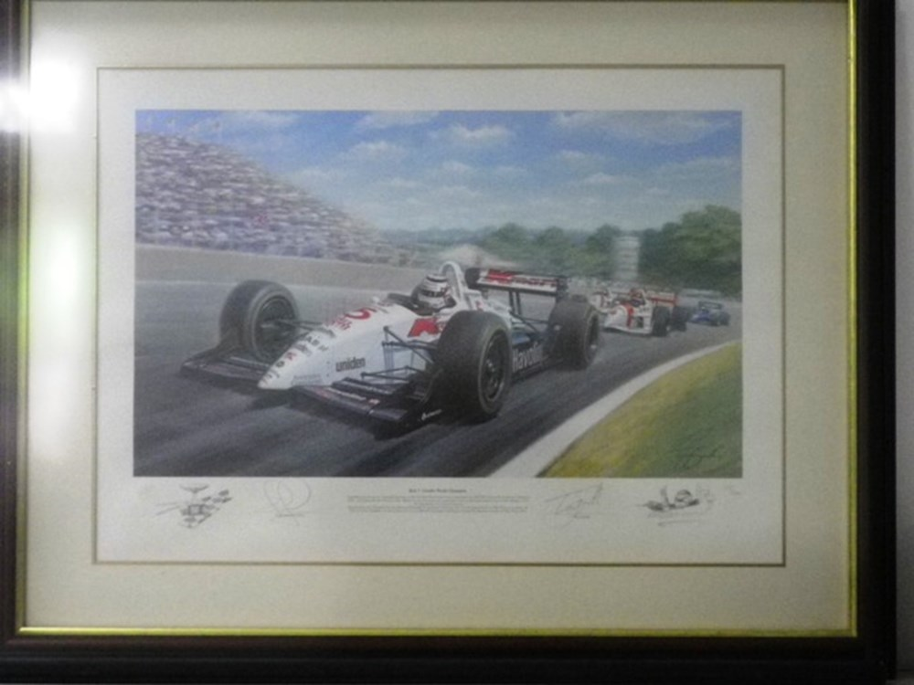 Lot 71 - Two motorracing prints.