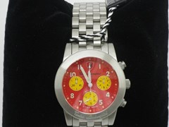 Navigate to Lamborghini red-faced wrist watch