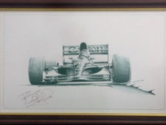 Navigate to Nigel Mansell signed print