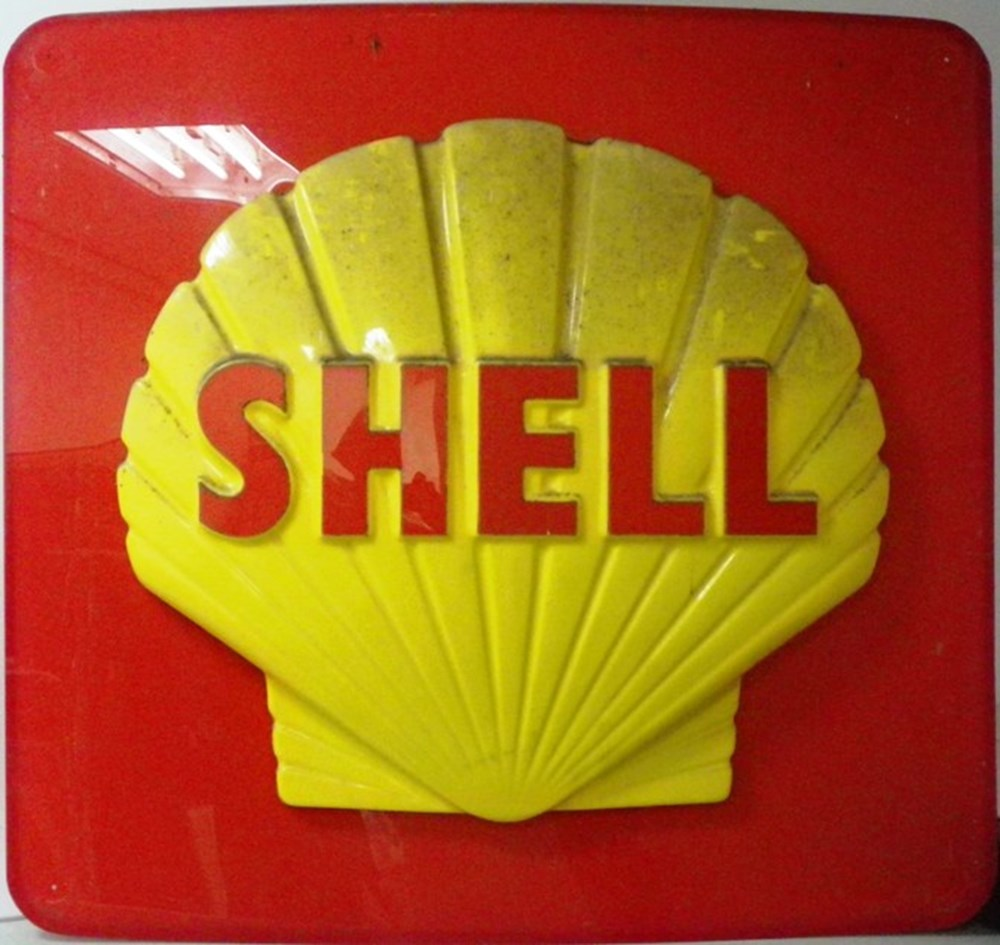 Lot 68 - Shell garage wall sign