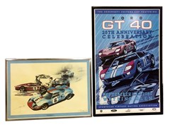 Navigate to Two Ford GT 40 framed photos