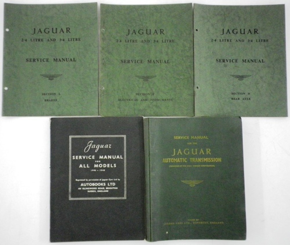 Lot 022 - Nine Jaguar Service Books
