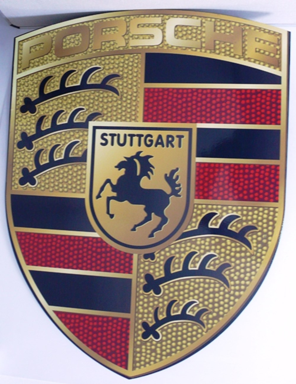 Lot 092 - Porsche wall plaque