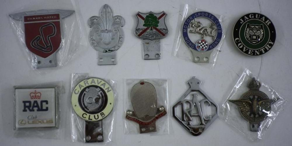 Lot 083 - Ten Motoring Badges