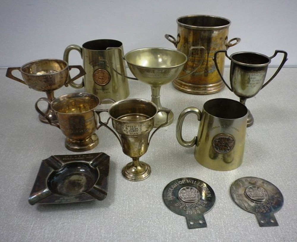 Lot 27 - A selection of winner's cups and medals