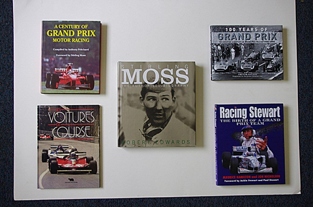 Lot 135 - Five signed motor-sport books