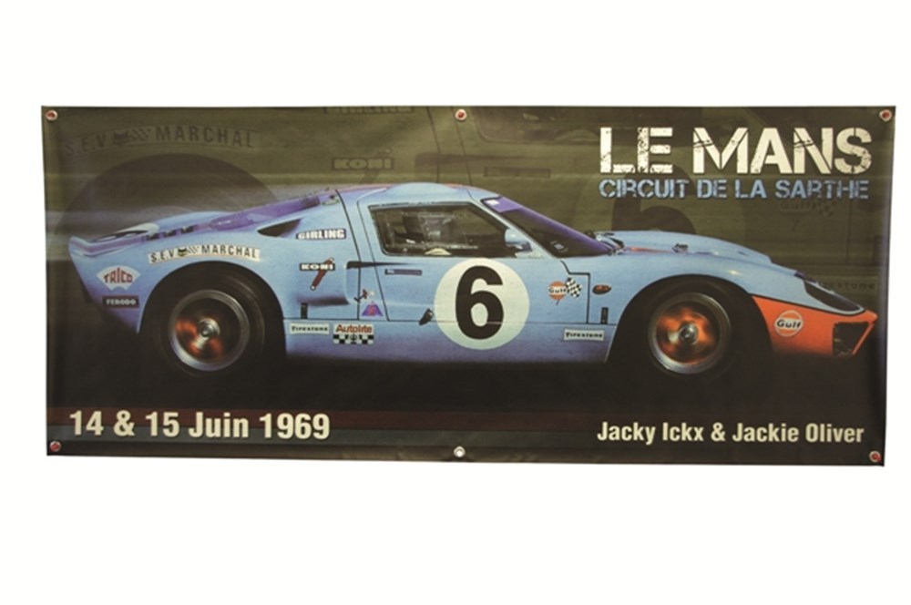 Lot 079 - 1969 Ford GT40 Mk1 wall banner