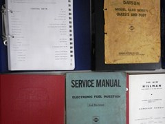 Navigate to A selection of vehicle manuals and books