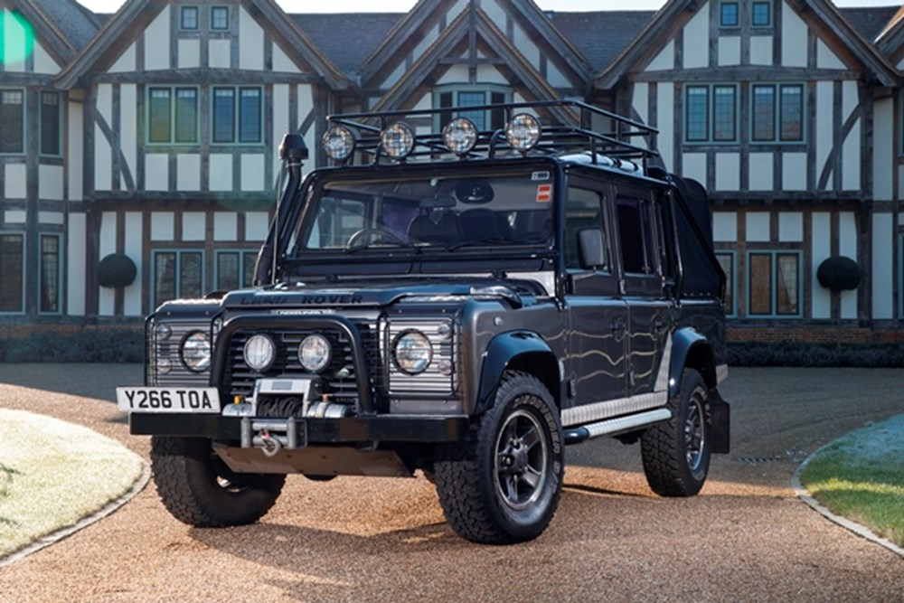 Lot 167 - 2001 Land Rover Defender 110 'Tomb Raider' Special Vehicles Pre-production Model