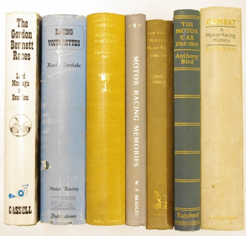 Lot 27. - Seven motoring books.