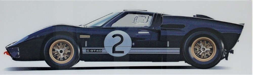 Lot 82 - Ford GT40 wall hanging.