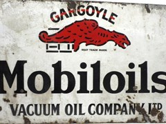 Navigate to Mobil Oil enamel sign