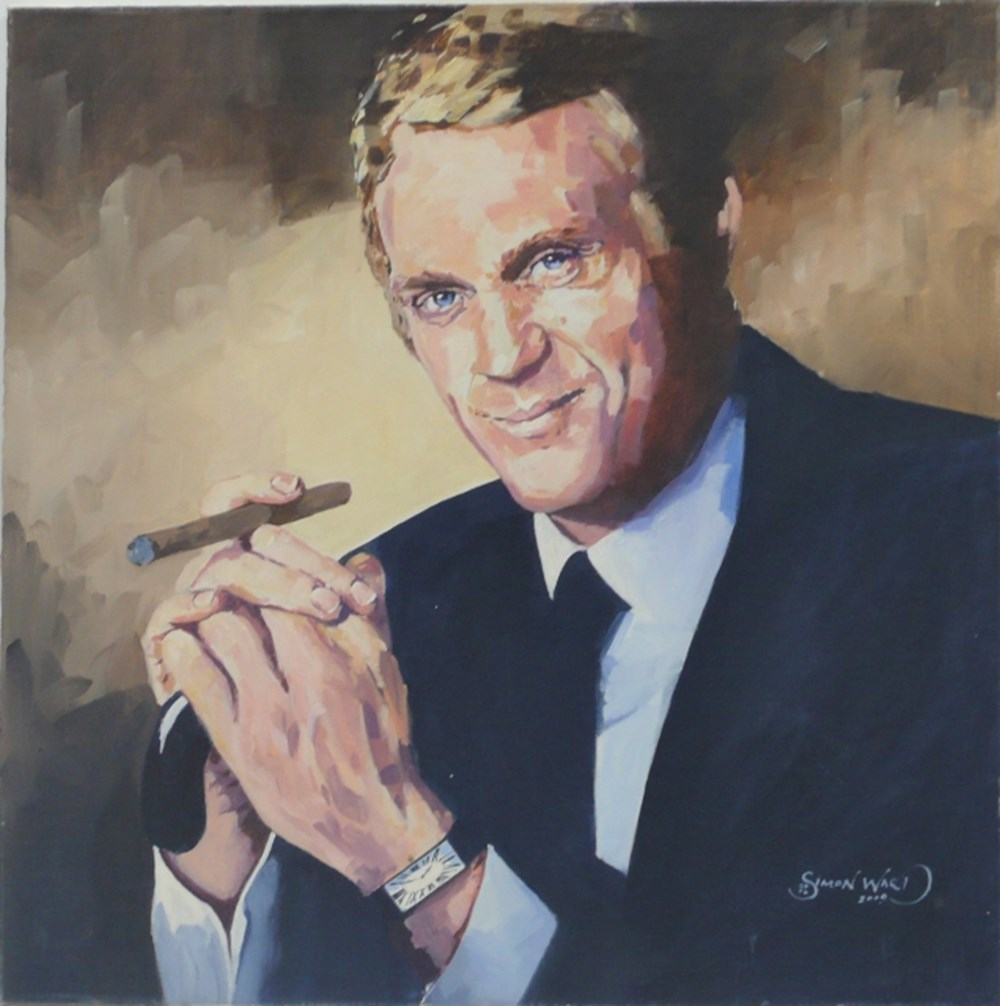 Lot 95 - Steve McQueen painting.