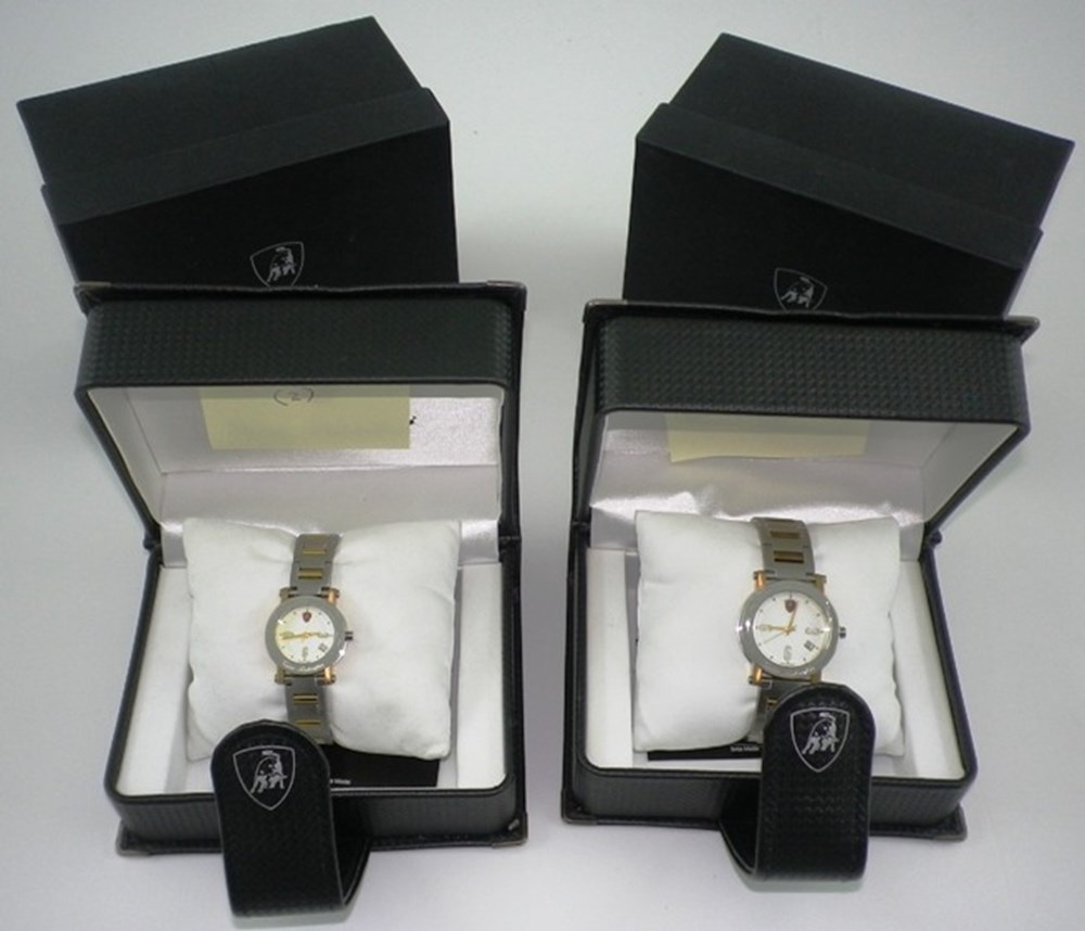 Lot 46 - his and hers Lamborghini watches