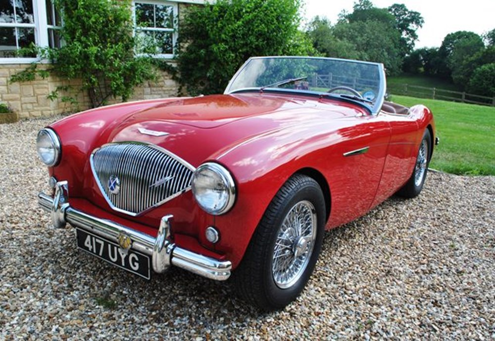 Austin Healey 100 4 Red Classic Sports Car Auctioneers