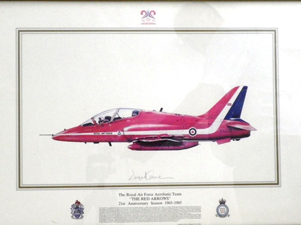Lot 120 - Red Arrows print