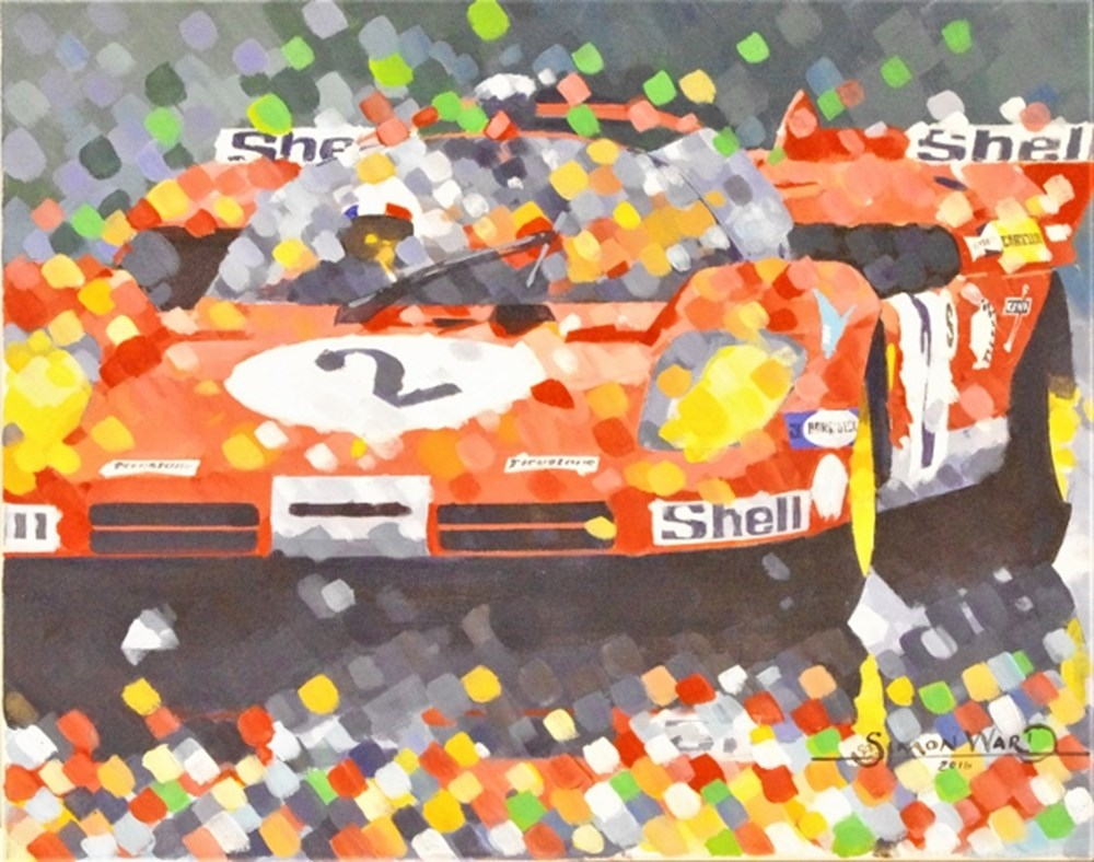 Lot 61. - Simon Ward Ferrari painting.