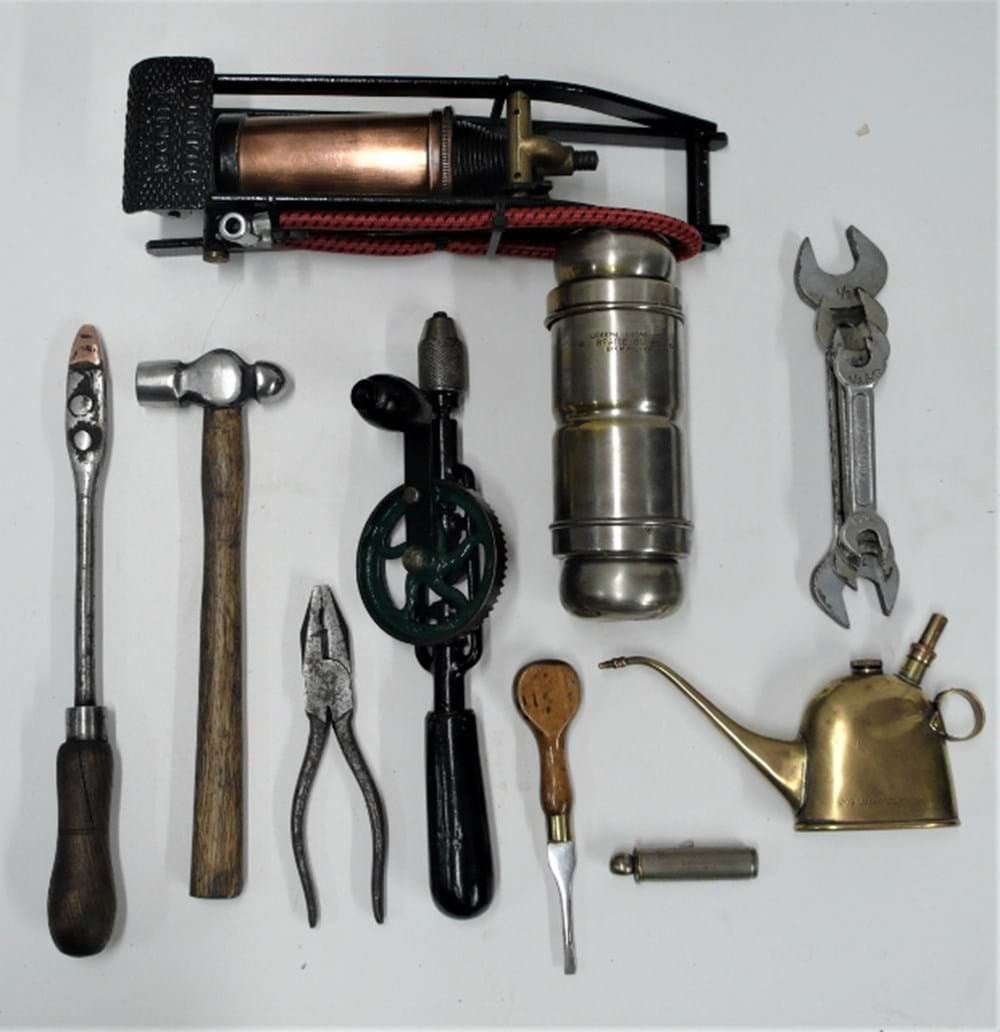 Lot 69 - Early motoring tools.