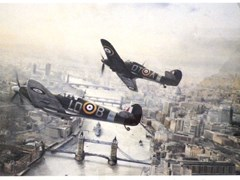 Navigate to Spitfires over London