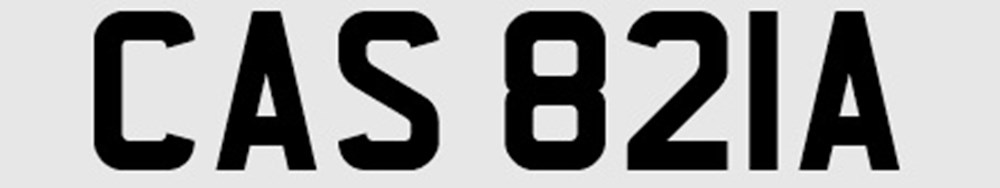 Lot 109 -   Number plate: CAS 821A