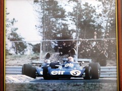 Navigate to A signed Jackie Stewart print