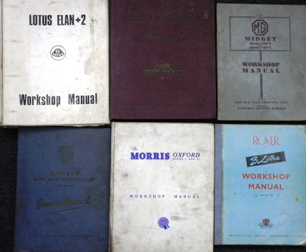 Lot 13 - Workshop manuals