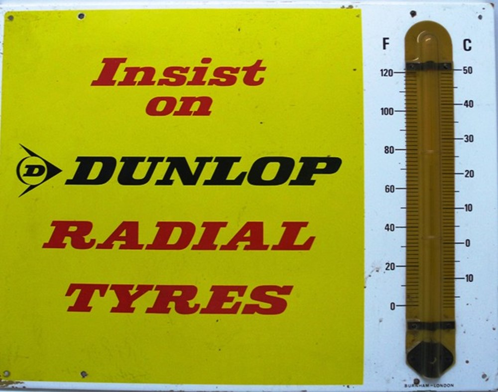 Lot 58 - Dunlop advertising sign.