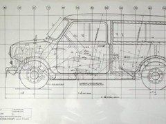 Navigate to 1960s Morris Mini Traveller limited edition line drawing prints