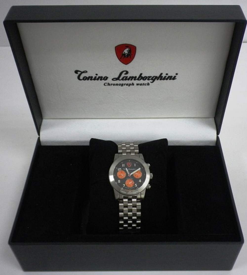 Lot 055 - Lamborghini chronograph men's wristwatch