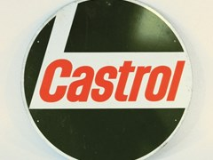 Navigate to 1970s Castrol Oil round tin sign