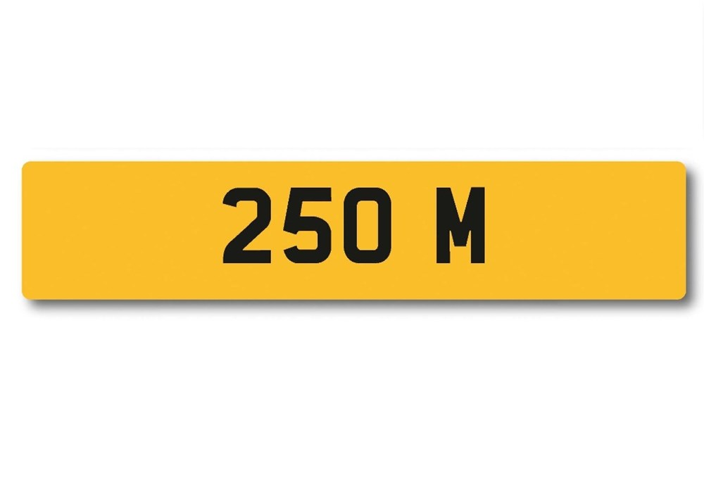 Lot 104 -   Number Plate 250 M