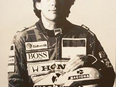 Navigate to Ayrton Senna canvas print.