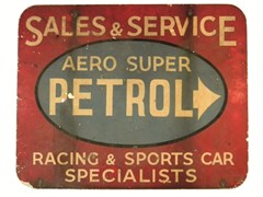 Navigate to Aero Super Petrol aluminium sign