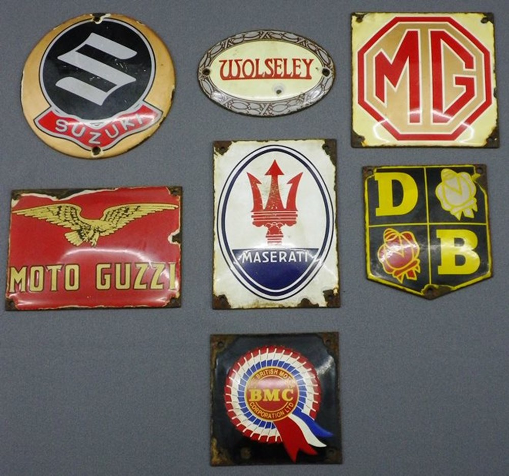 Lot 21 - Enamel door plaques.