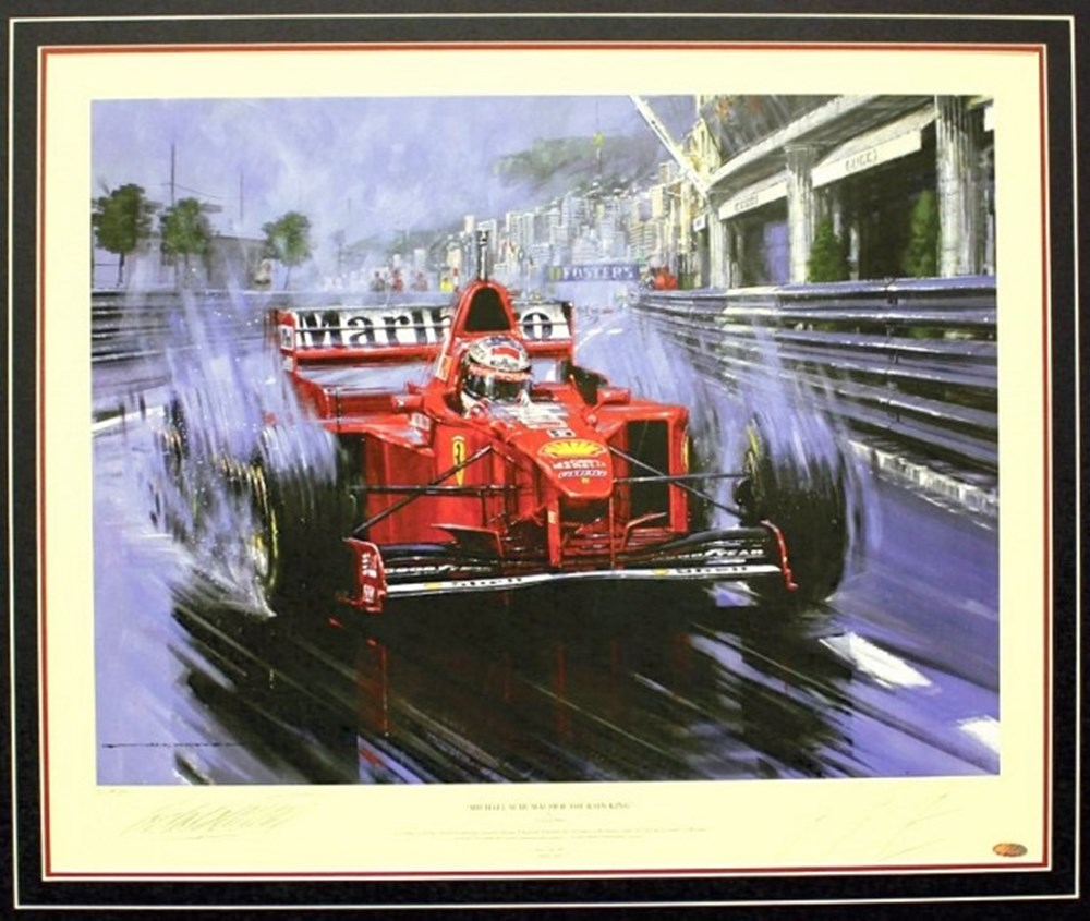 Lot 110. - Michael Schumacher print.