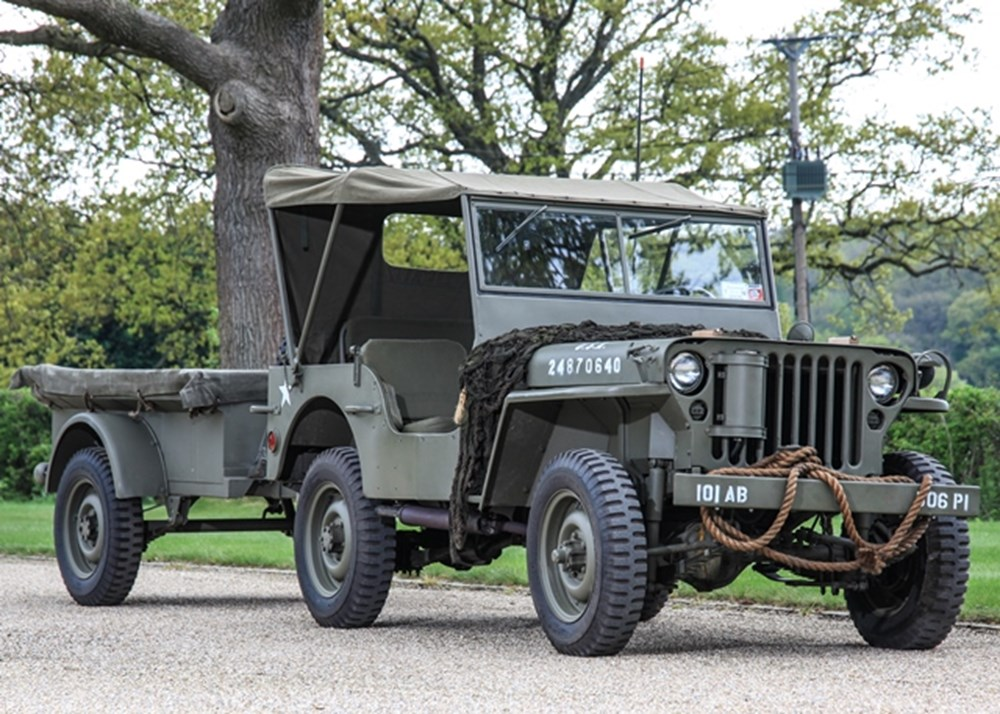 Lot 145 - 1943 Willys Jeep & Trailer