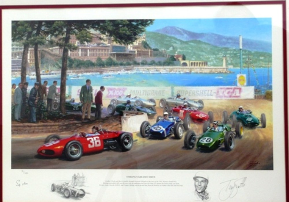 Lot 109 - Stirling's greatest drive print