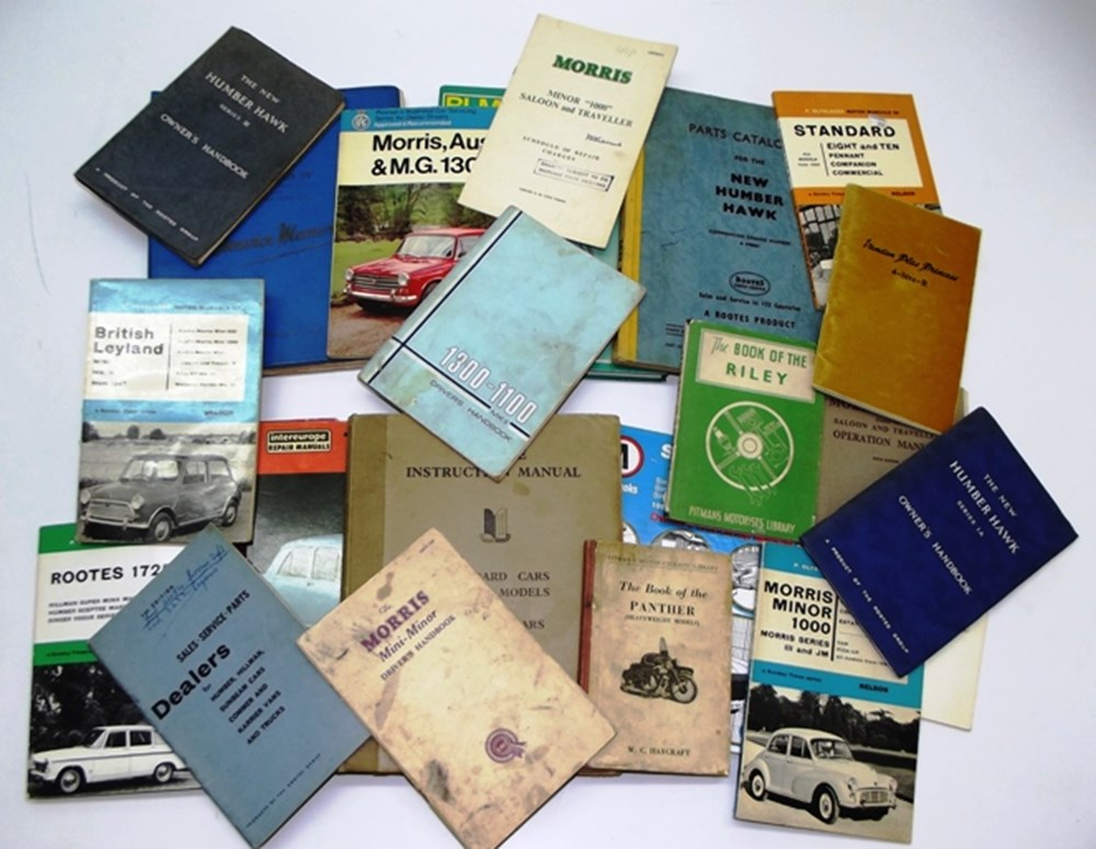 Lot 045 - 23 service, workshop & drivers hand-books