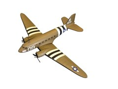 Navigate to Second world war Dekota flying model plane