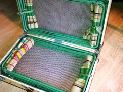 Navigate to Vintage travelling picnic set