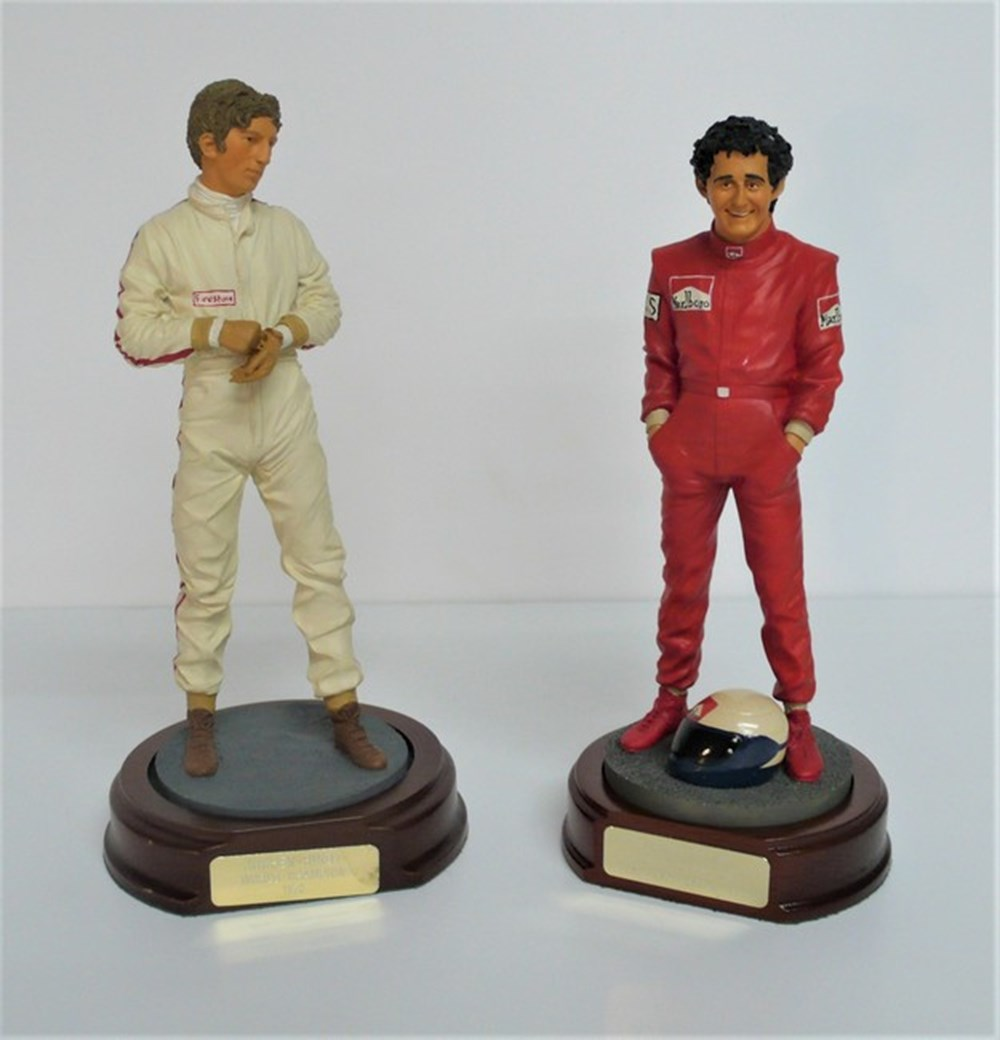 Lot 037 - Motor racing figures.